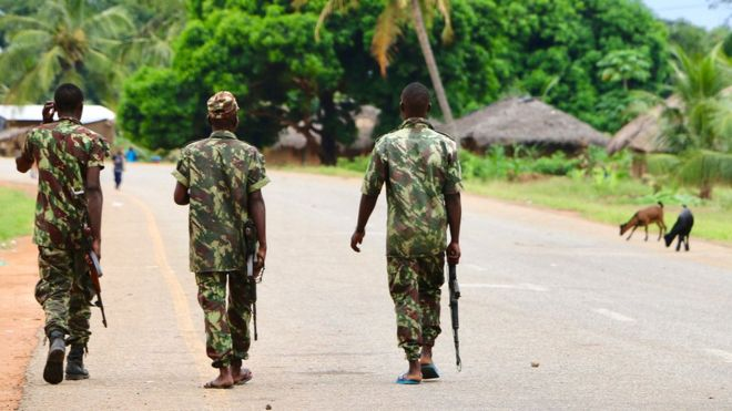Troops have been battling to defeat the militants in Mozambique