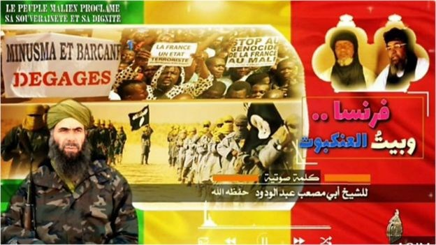 Al-Qaeda's North-African branch has maintained close ties with its Mali-focused sister group.AQIM PROPAGANDA