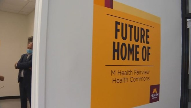 The Cedar Riverside M Health Fairview Health Commons will be opening on Oct. 5. (FOX 9)