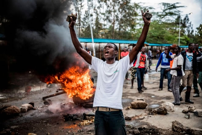 Protests turn deadly as Kenyan election repeat goes ahead