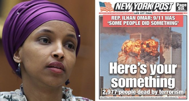 new york post stirs ilhan omar controversy with 9  11 cover