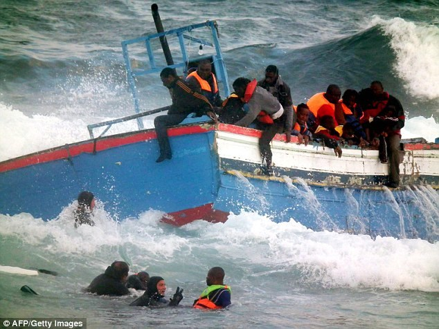 Most of the 400 migrants aboard the boat were fleeing from Somalia, Ethiopia and Eritrea and had been hoping to reach Italy. (file picture)