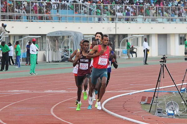 Ayanleh Souleiman on his way to winning the 1000m in Djibouti City (Organisers) © Copyright