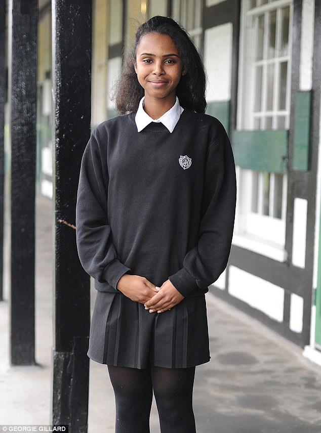 Nadia, 16, has overcome the odds to follow in the footsteps of Sam Cam and Kate Middleton