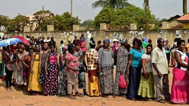 Voting at some polling stations was extended into a second day after delays