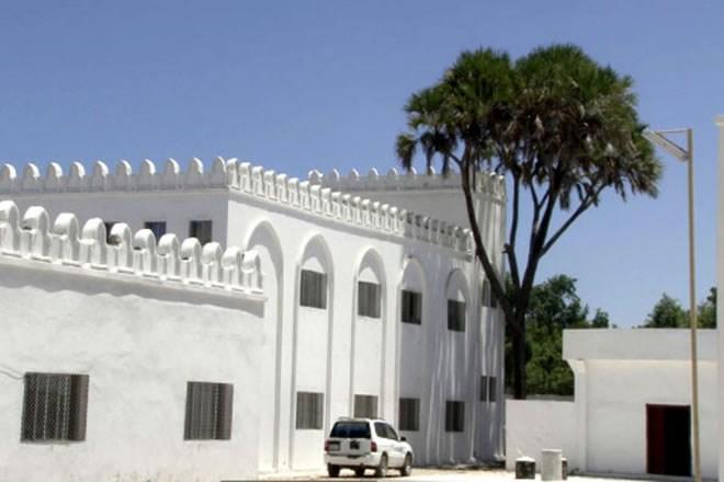 Newly reconstructed SNU building in Mogadishu's Hamar Weyne District. [Abdi Moalim/Sabahi]