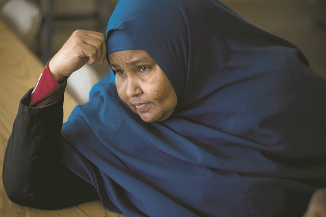 Fadumo Ibrahim, a Somali refugee in SeaTac, has three adult sons in a Kenyan refugee camp hoping to join her. (Bettina Hansen/The Seattle Times)