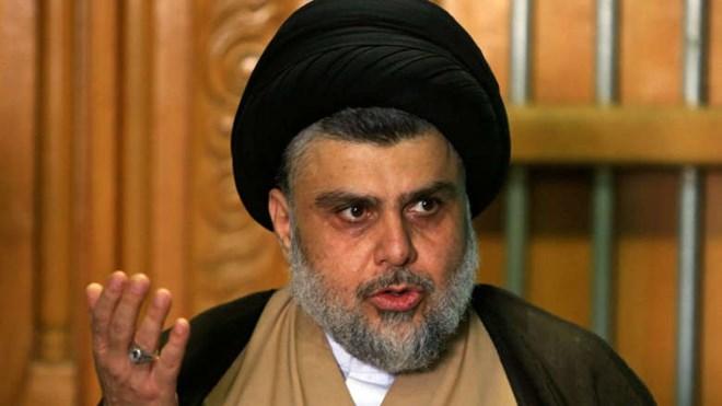 Iraqi Shia cleric Moqtada al-Sadr speaks during a news conference in Najaf, Iraq, on Thursday. (Alaa al-Marjani/Reuters)