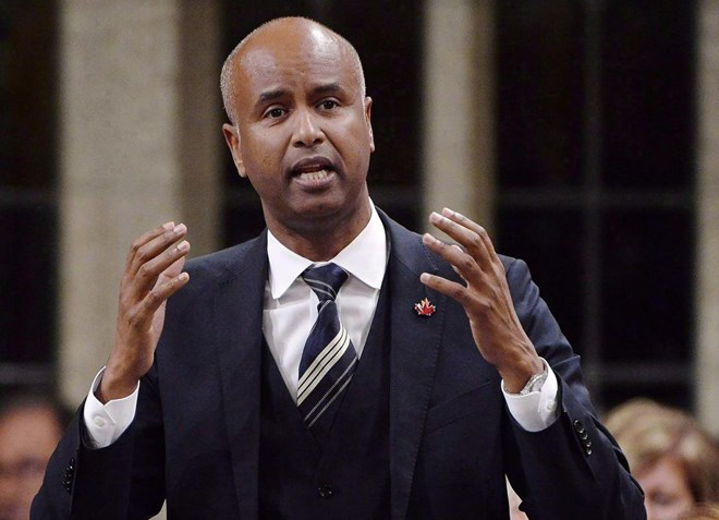 A spokesman for Immigration Minister Ahmed Hussen said the change's primary effect is expected to be on people whose refugee claims have been rejected in the United States and who then try again in Canada.  (ADRIAN WYLD / THE CANADIAN PRESS FILE)